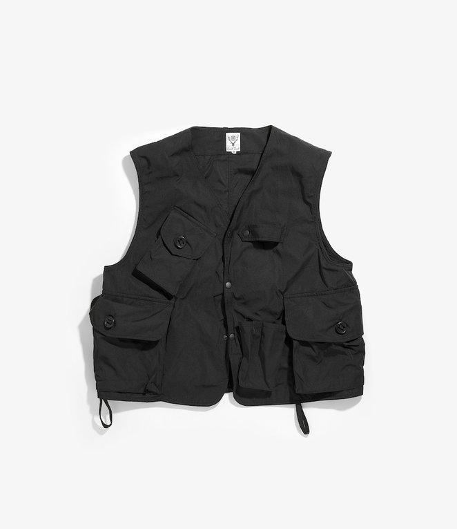 South2 West8 Tenkara Vest Poly Gabardine - Black