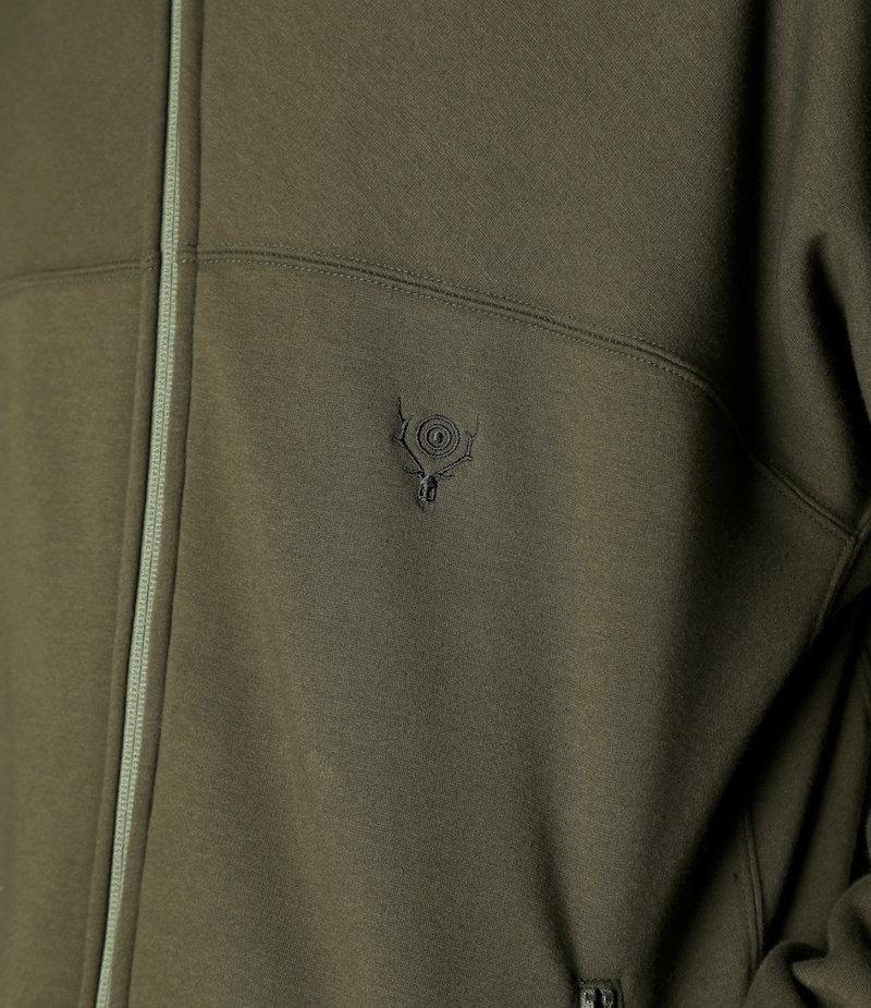 South2 West8 Trainer Jacket Pe/C/Pu Fleece Lining - Olive