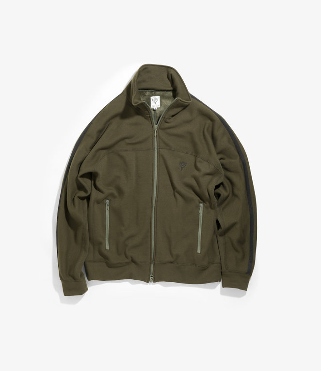 South2 West8 Trainer Jacket Pe/C/Pu Fleece Lining - Olive