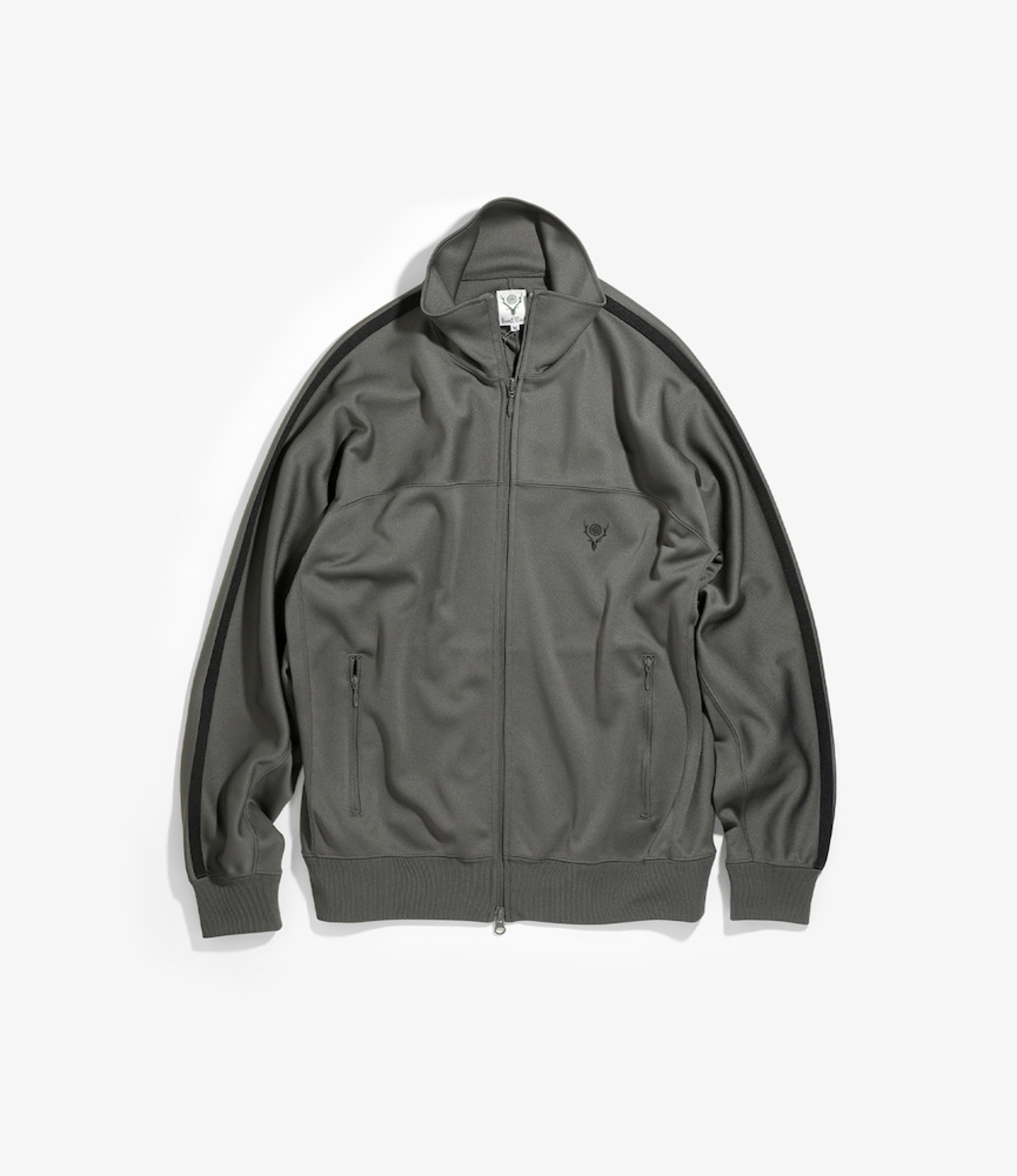 South2 West8 Trainer Jacket Poly Smooth - Charcoal