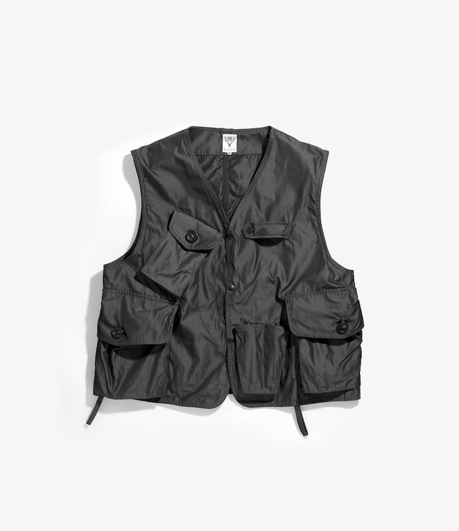 South2 West8 Tenkara Vest Poly Gabardine - Charcoal