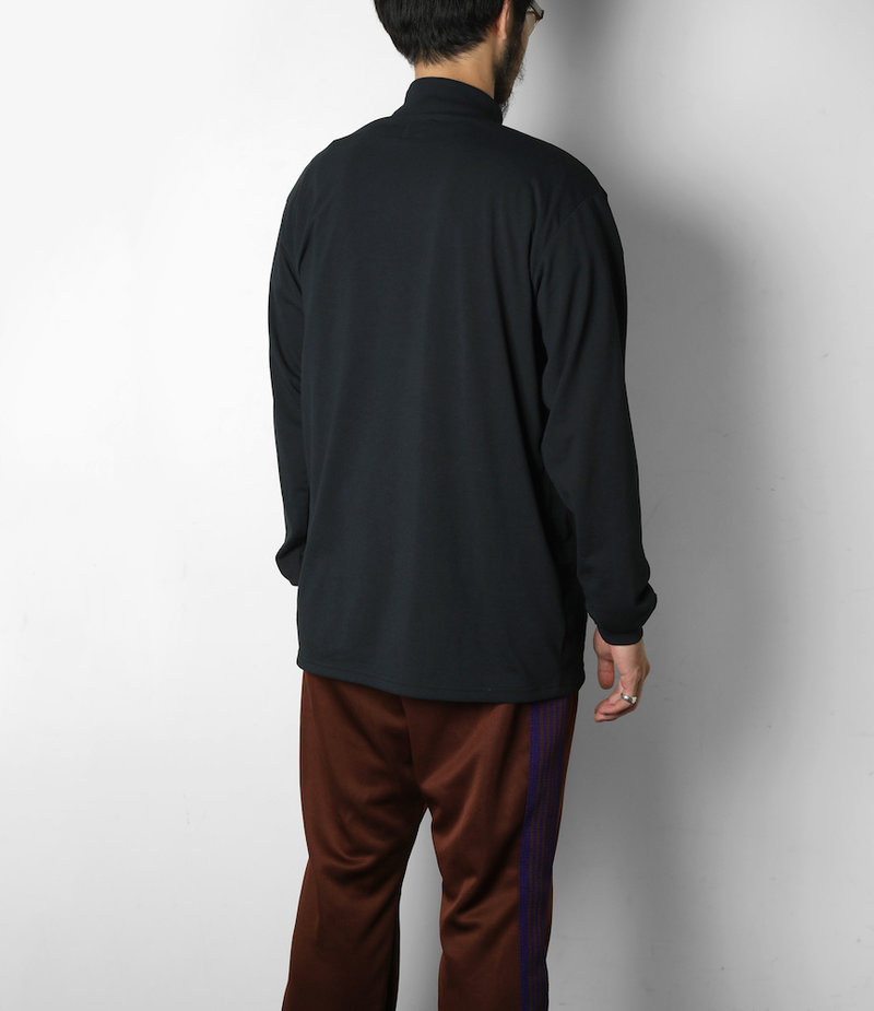 Needles L/S Mock Neck Tee - Synthetic Jersey - Black