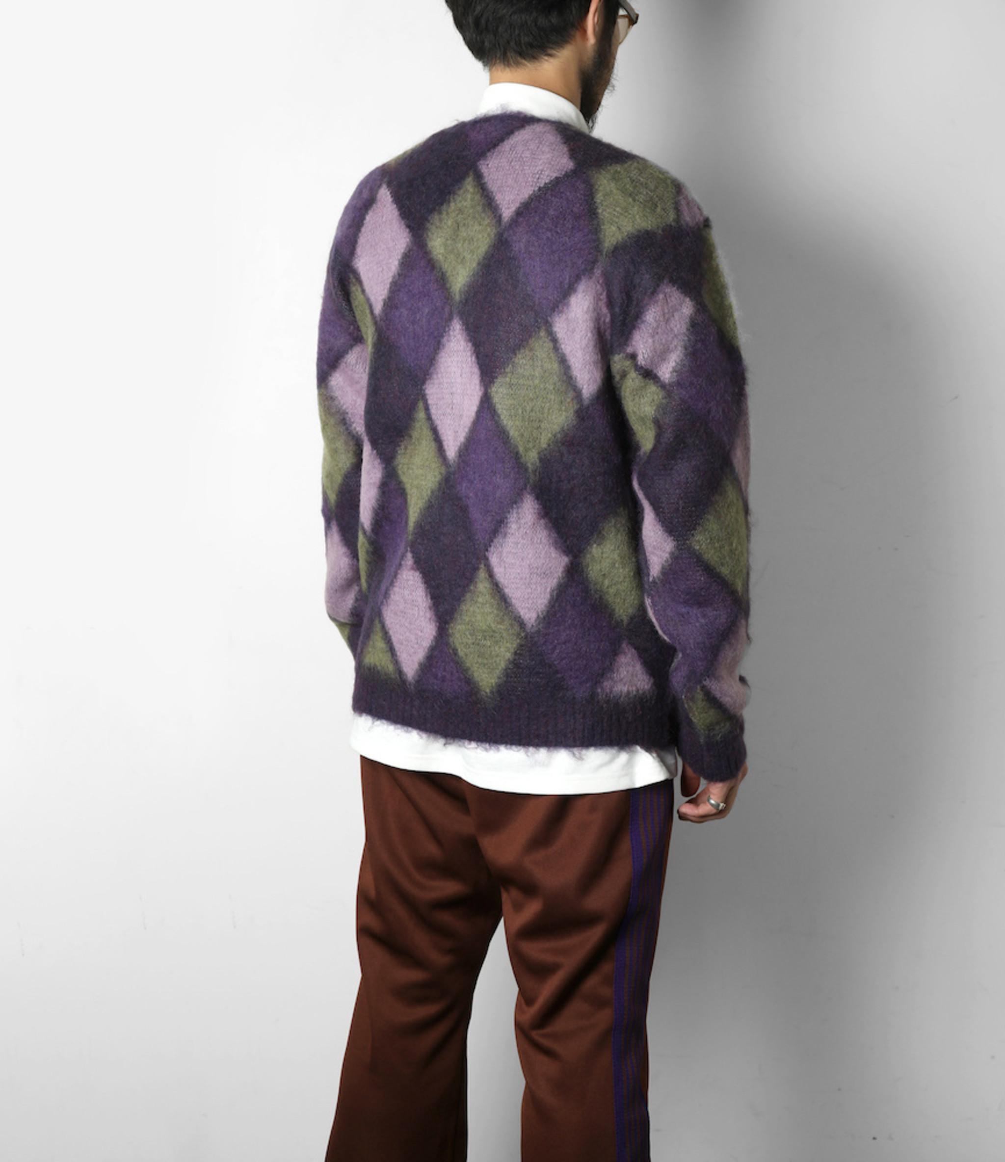 Needles Mohair Cardigan - Mosaic - Purple