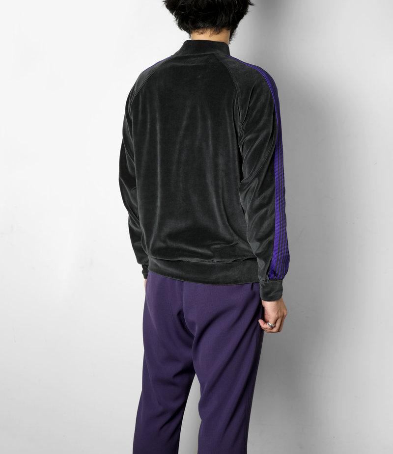 Needles Rib Collar Track Jacket - C/Pe Velour - Charcoal