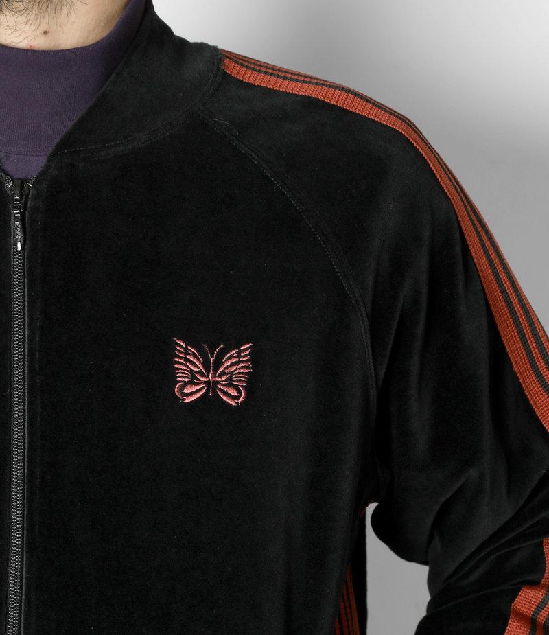 Needles Rib Collar Track Jacket - C/Pe Velour - Black
