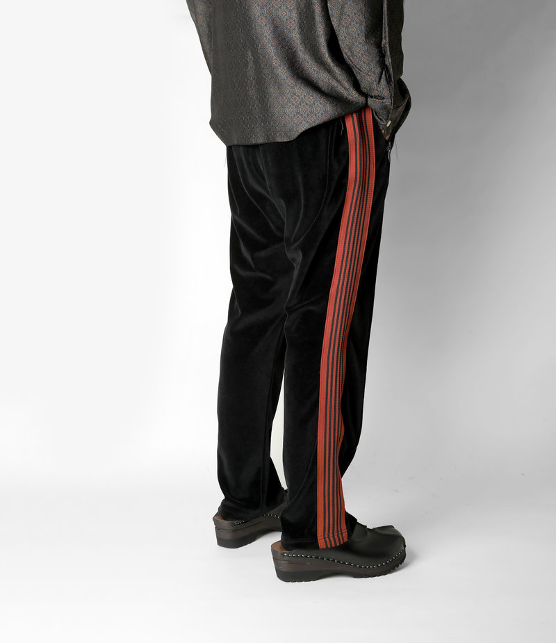 Needles Narrow Track Pant - C/Pe Velour - Black