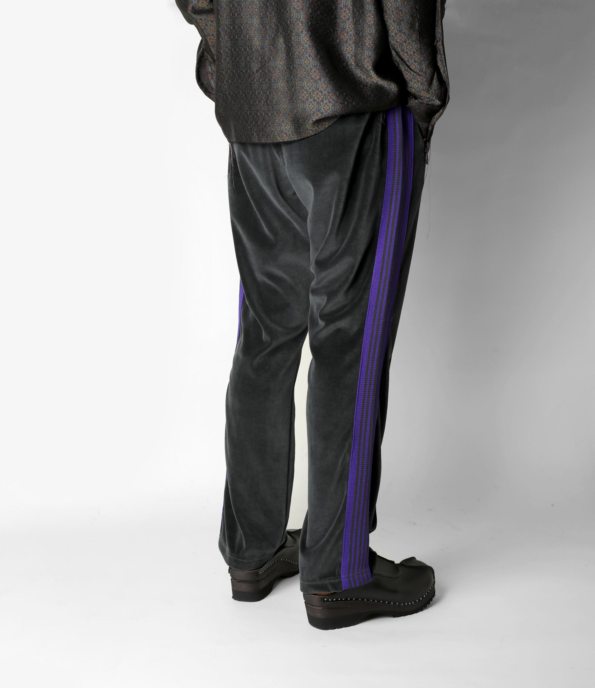 Needles Narrow Track Pant - C/Pe Velour - Charcoal