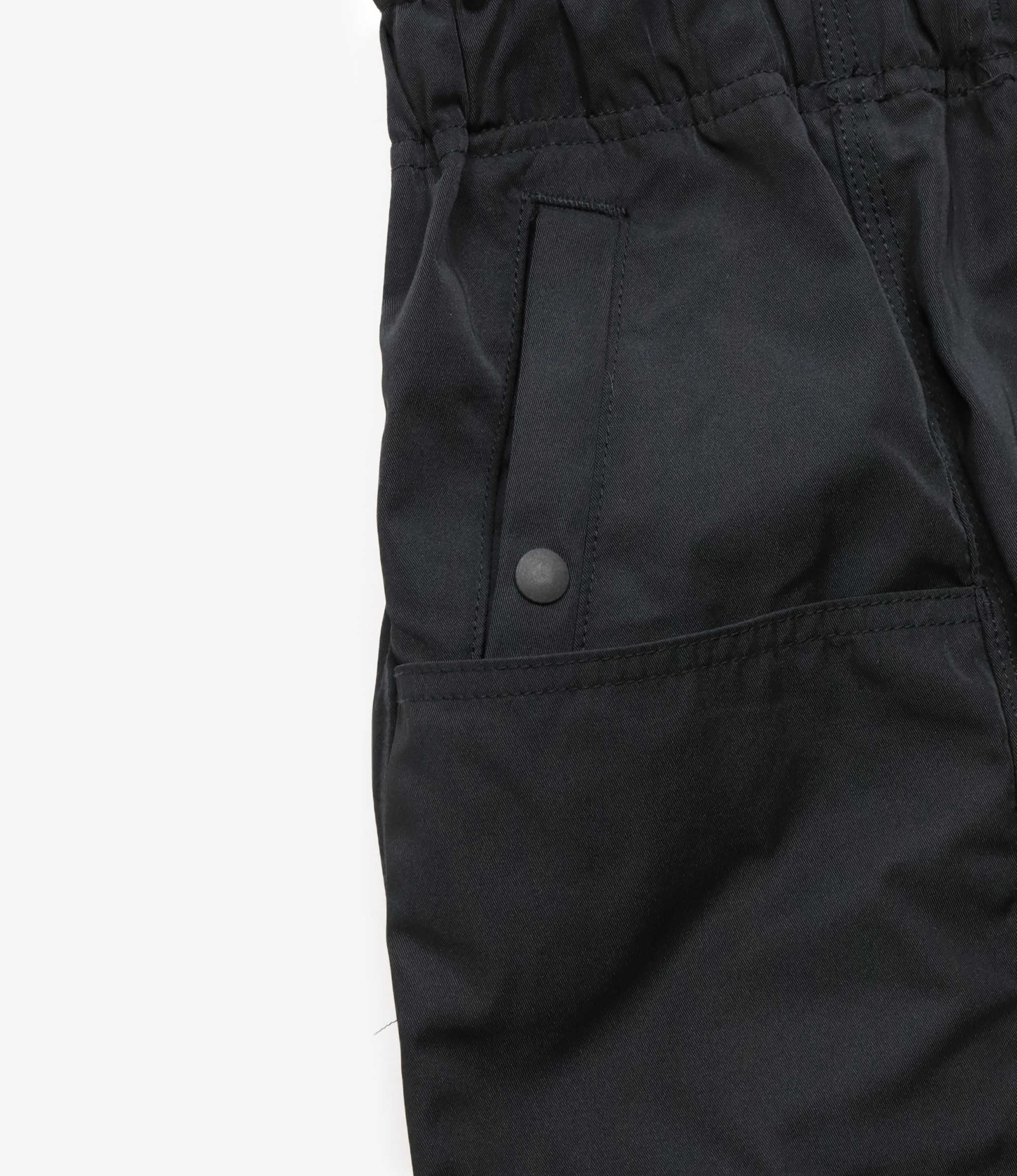 South2 West8 Belted Center Seam Pant Poly Gabardine - Black