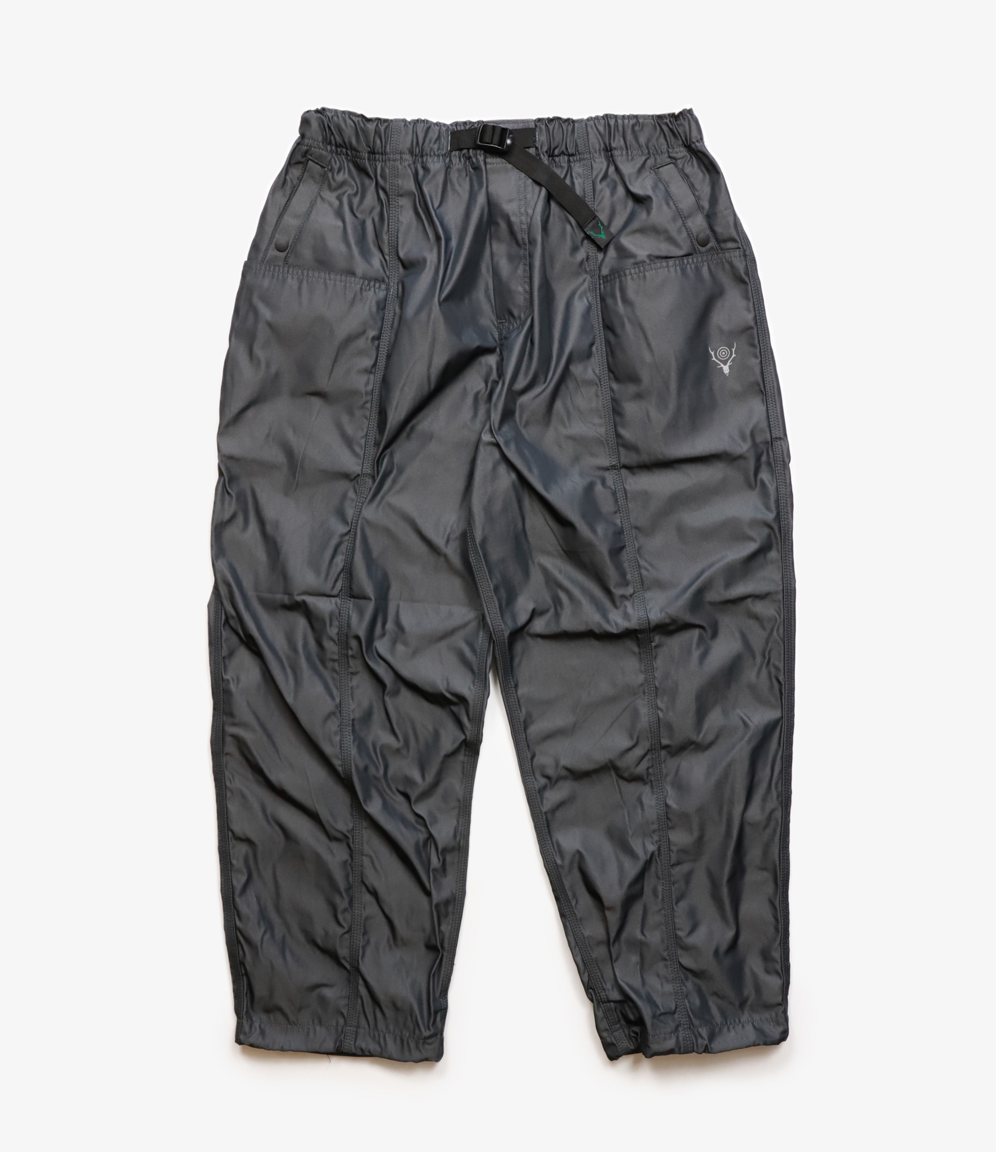 South2 West8 Belted Center Seam Pant Poly Gabardine - Charcoal