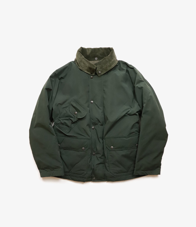 South2 West8 Carmel Down Jacket Wax Coating - Green