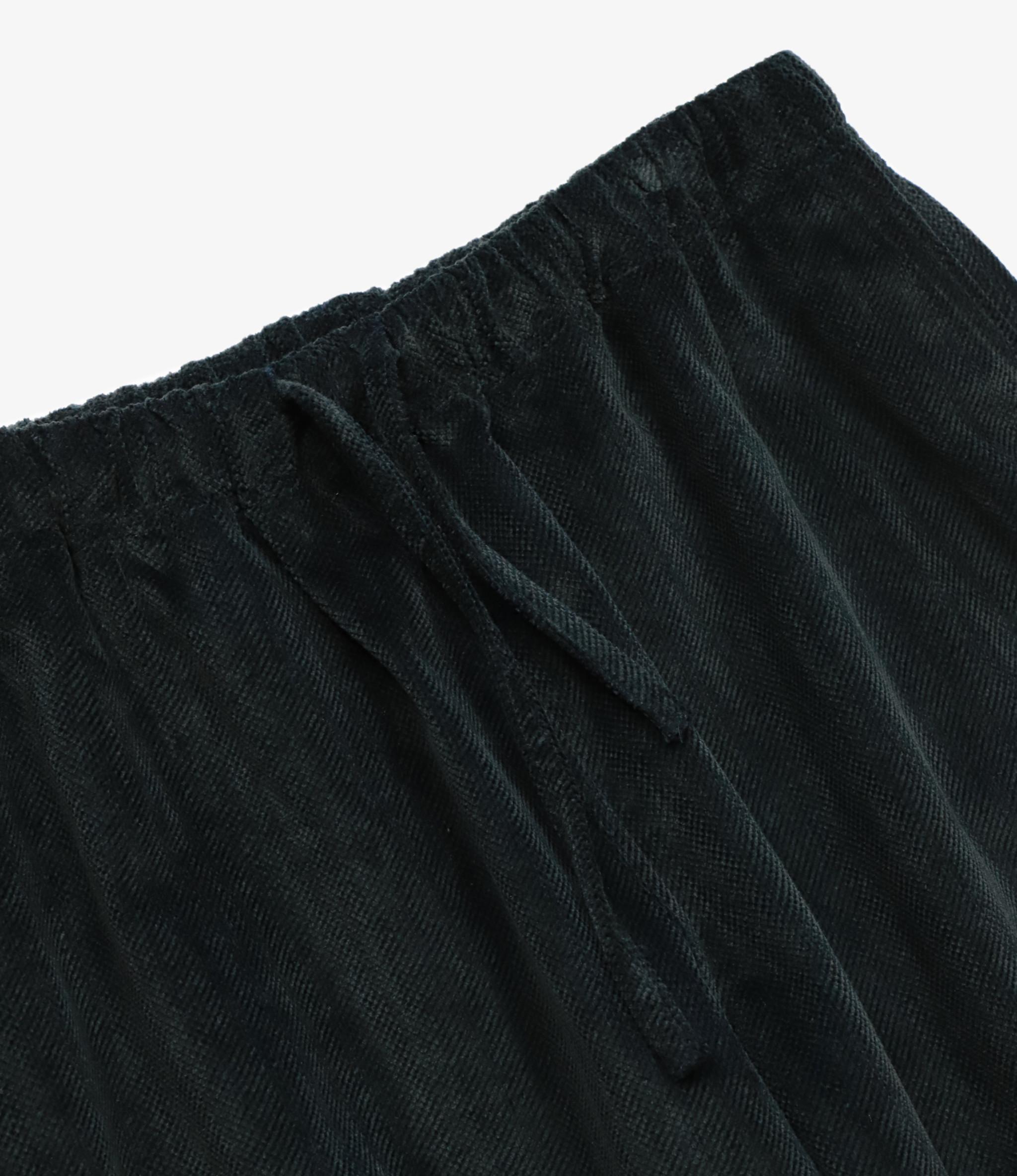 South2 West8 String Slack Pant Cotton Twill-Cut Corduroy - Black