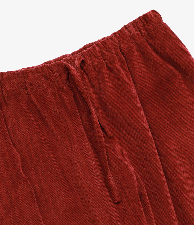 South2 West8 String Slack Pant Cotton Twill-Cut Corduroy - Red