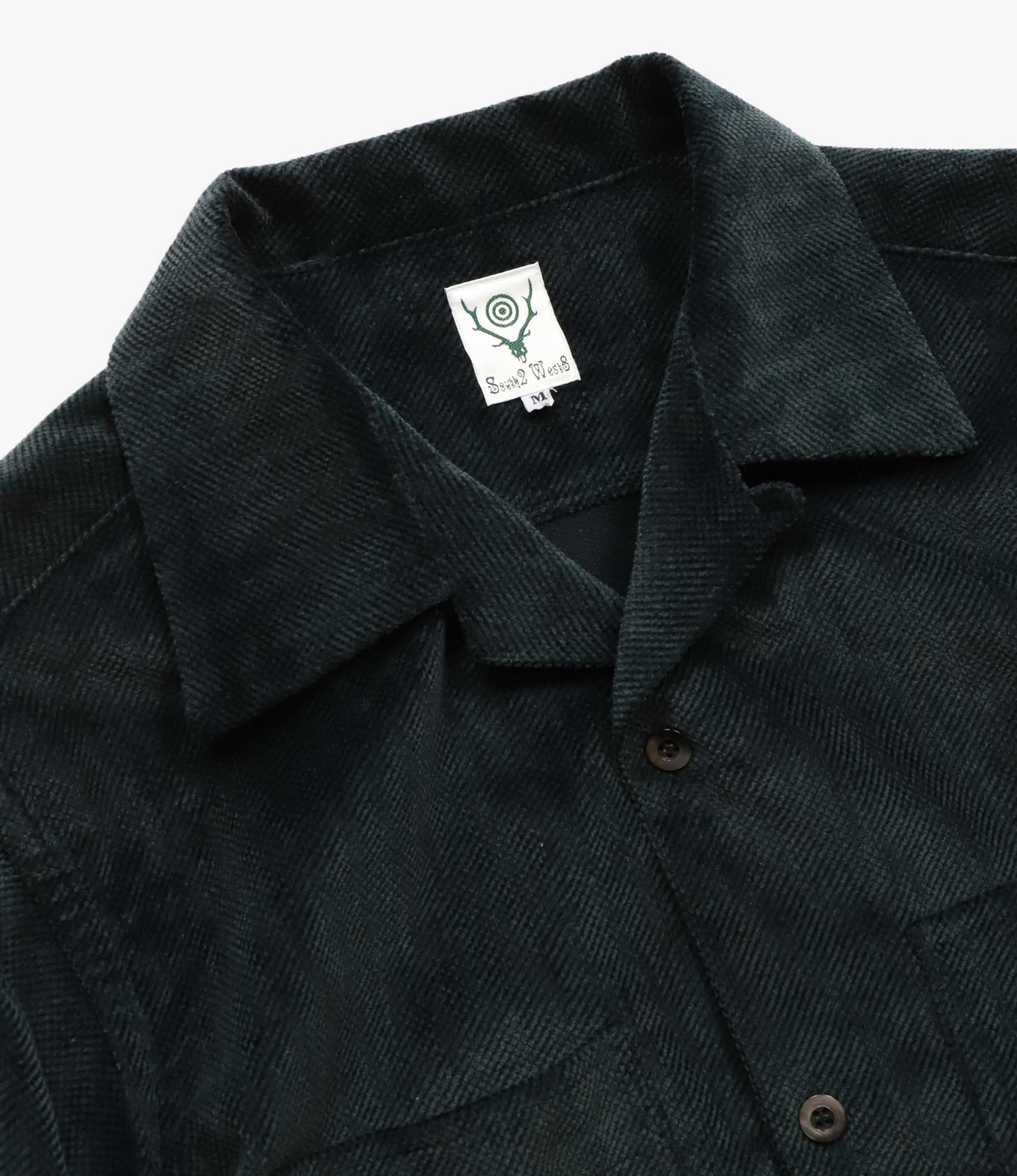 South2 West8 One-up Shirt Cotton Twill-Cut Corduroy - Black