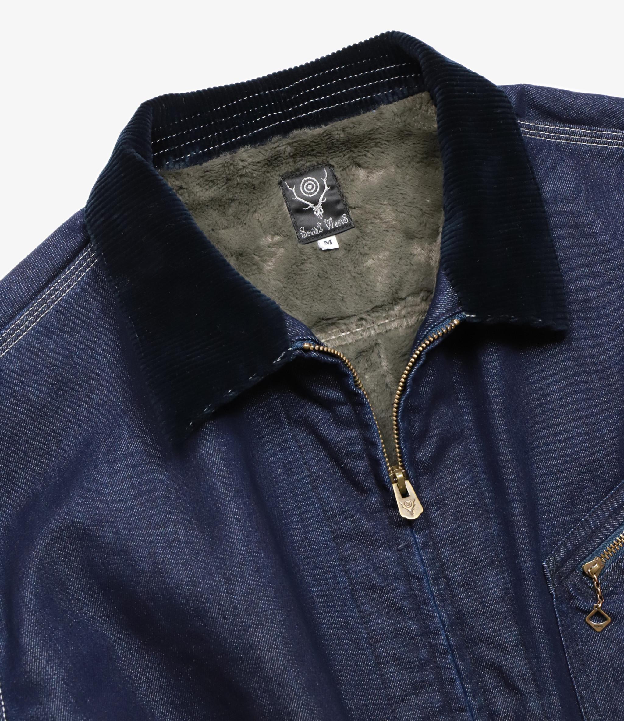 South2 West8 Lined Work Jacket - Cordura Nylon 11oz Denim - Indigo