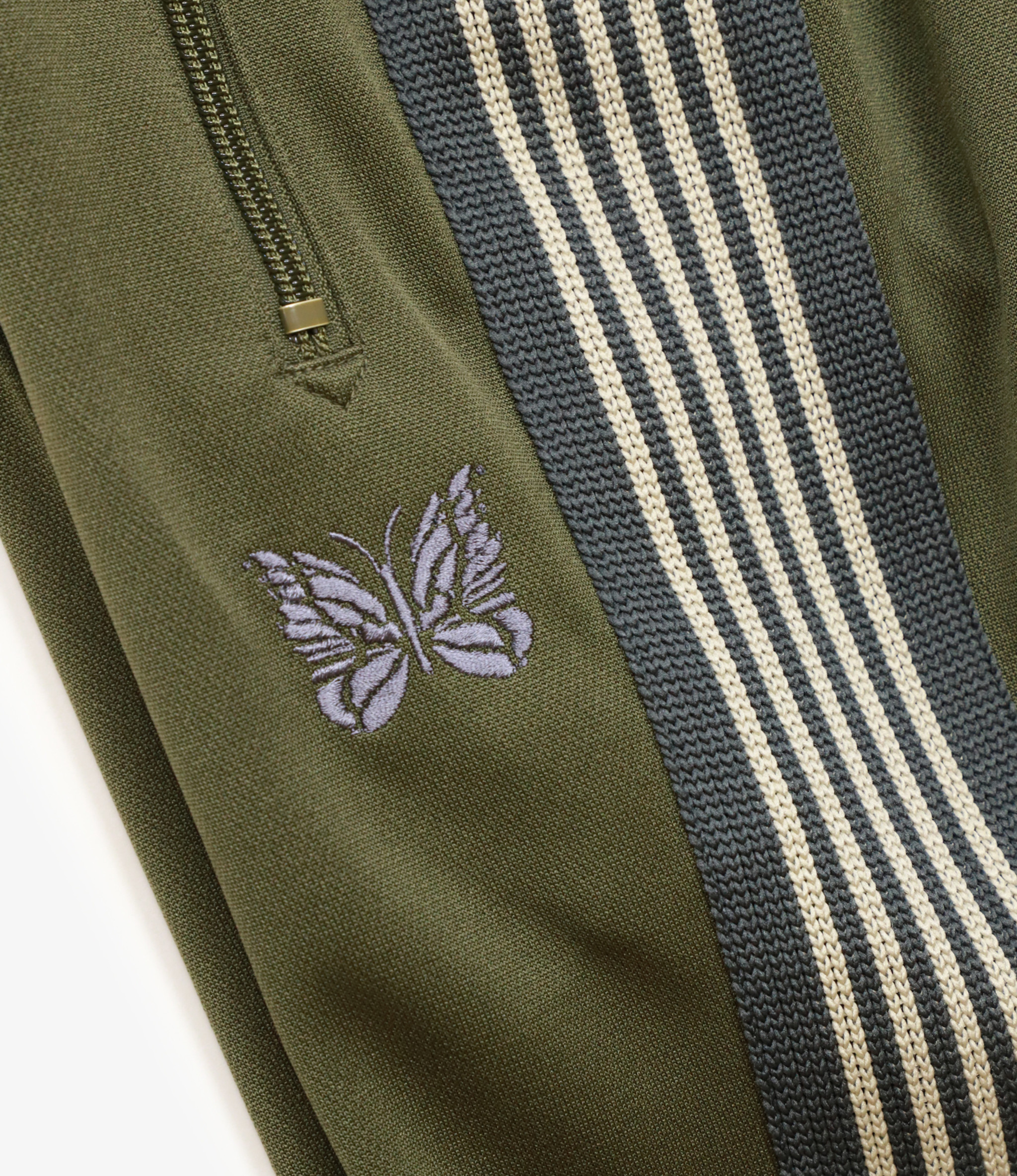 Needles SHOP SPECIAL : Narrow Track Pant - Poly Smooth - Olive