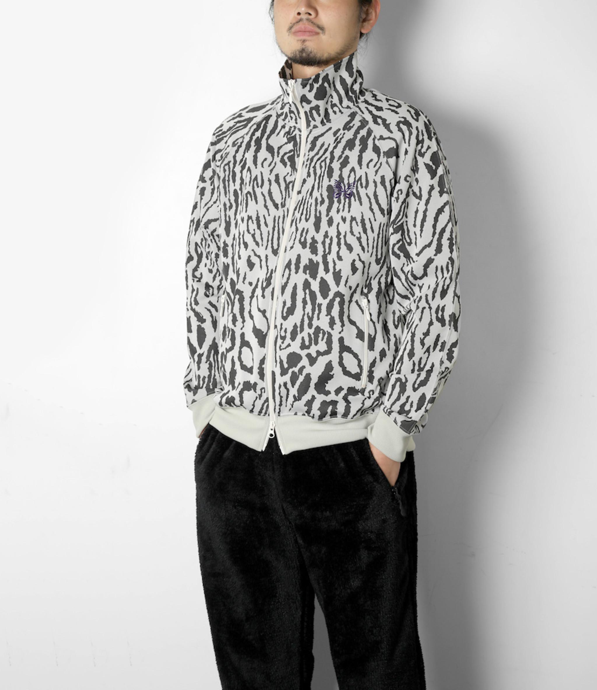 Needles Track Jacket - Poly Jacquard - Leopard