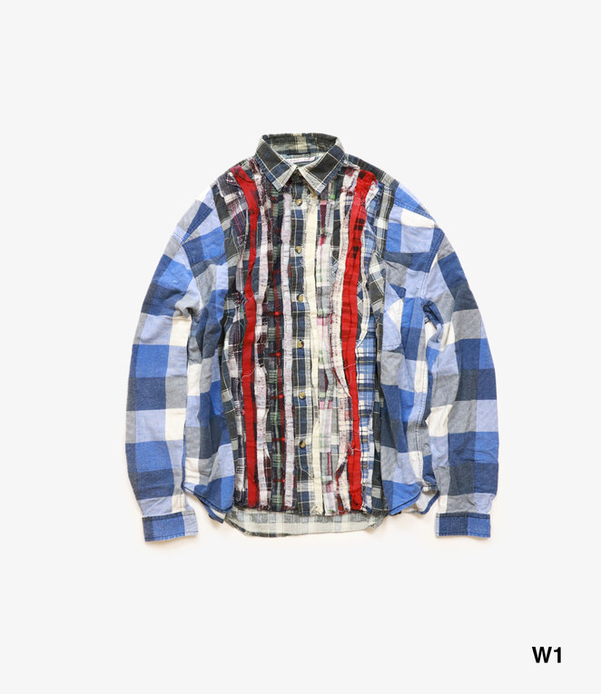 Needles Rebuild by Needles Flannel Shirt - Wide Ribbon Shirt
