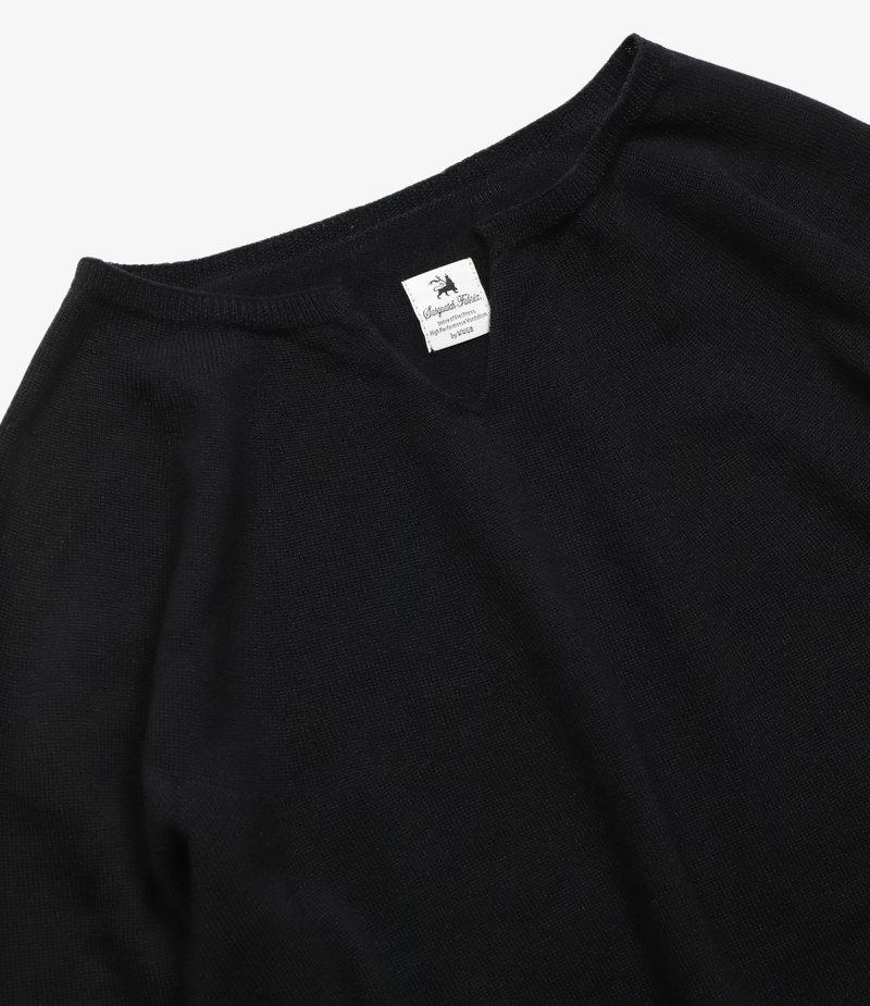 Sasquatchfabrix. High Gauge Seamless Crewneck Knit - Black