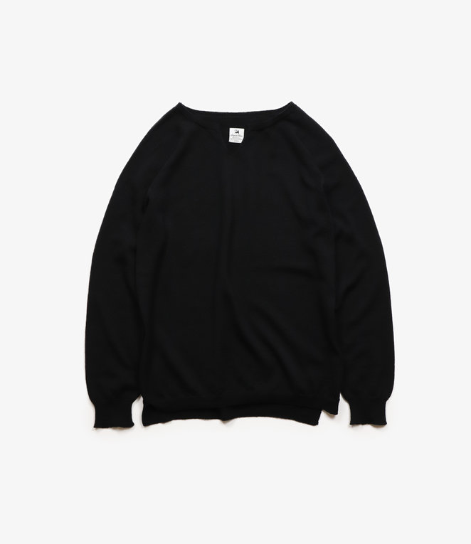 Sasquatchfabrix. High Gauge Seamless Crewneck Knit - Black