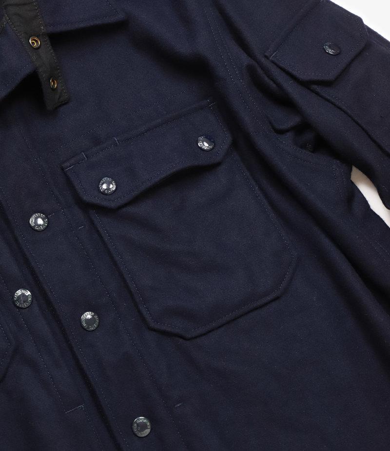 Engineered Garments Field Shirt Jacket - Dark Navy 20oz. Wool Melton