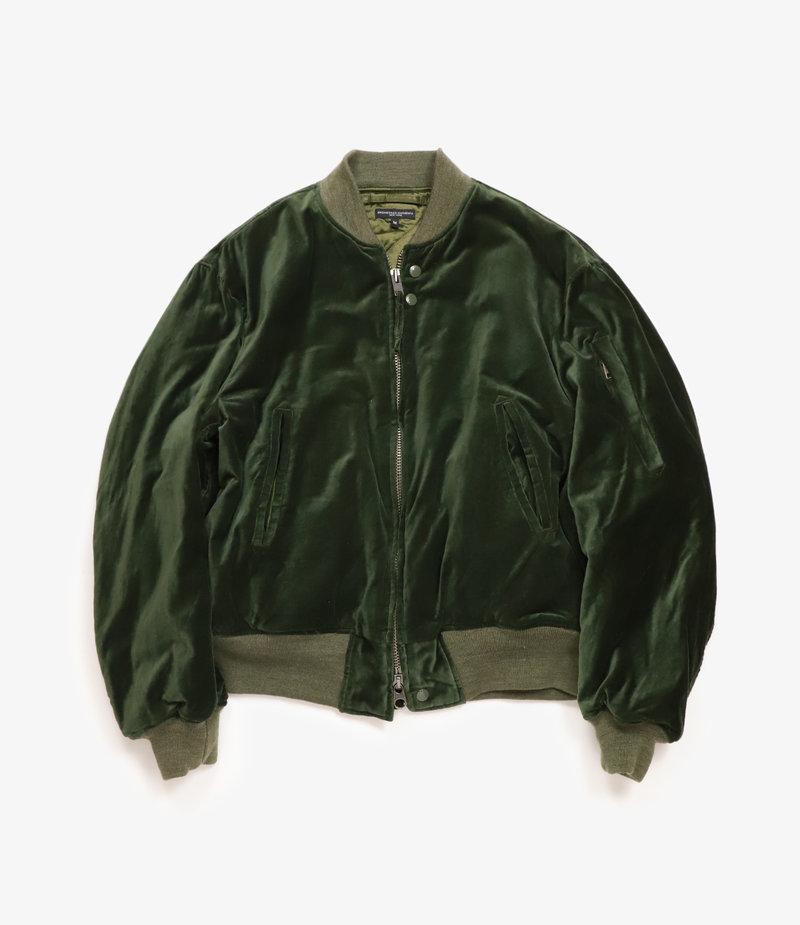 Engineered Garments Aviator Jacket - Olive Cotton Velveteen