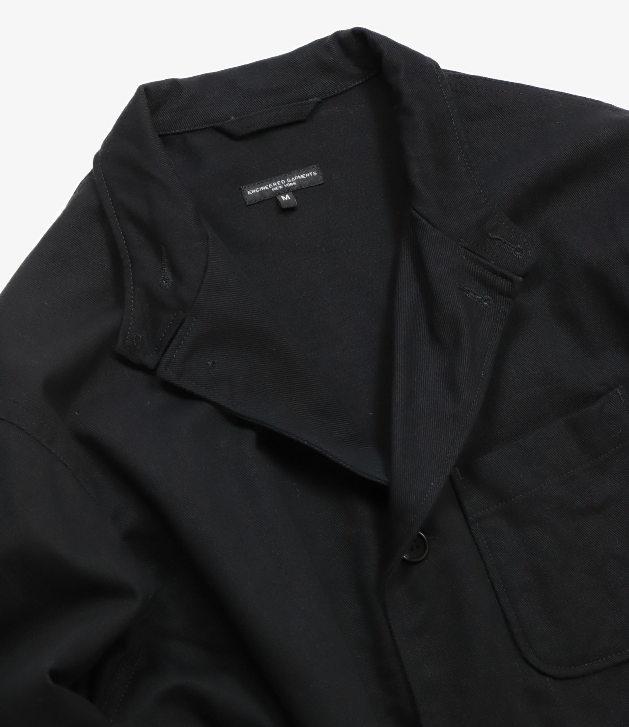 Engineered Garments Loiter Jacket - Black Cotton Heavy Twill