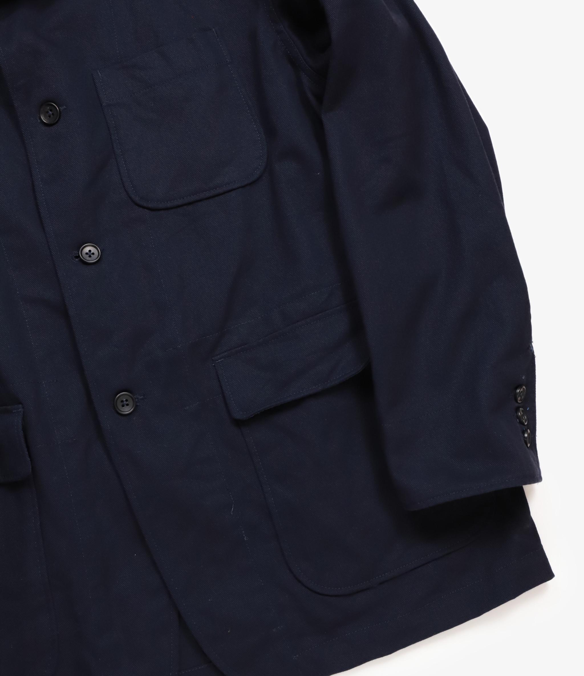 Engineered Garments Loiter Jacket - Dark Navy Cotton Heavy Twill