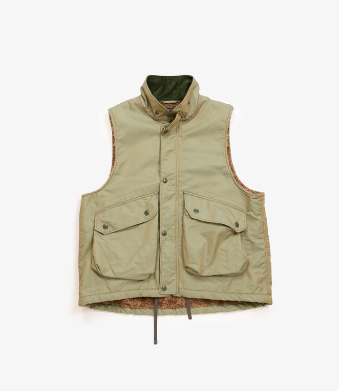 Engineered Garments Field Vest - Olive PC Iridescent Twill
