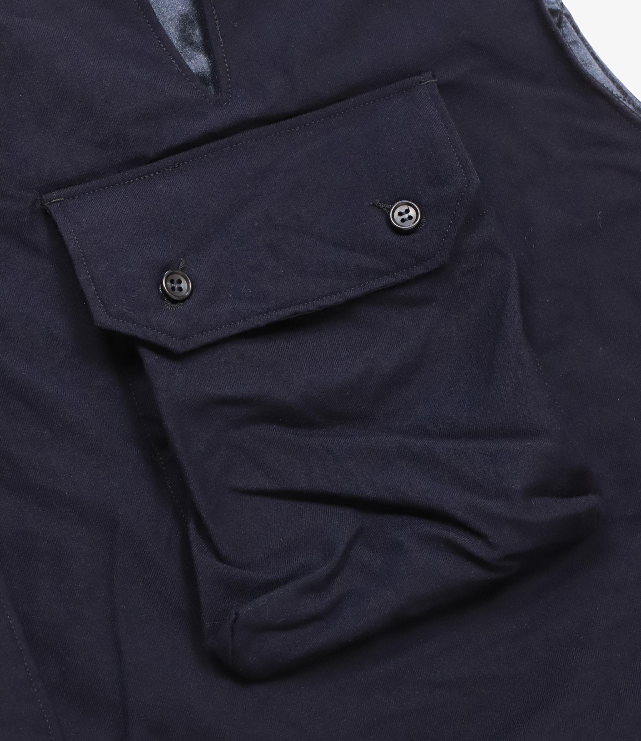 Engineered Garments Cover Vest - Dark Navy Wool Uniform Serge