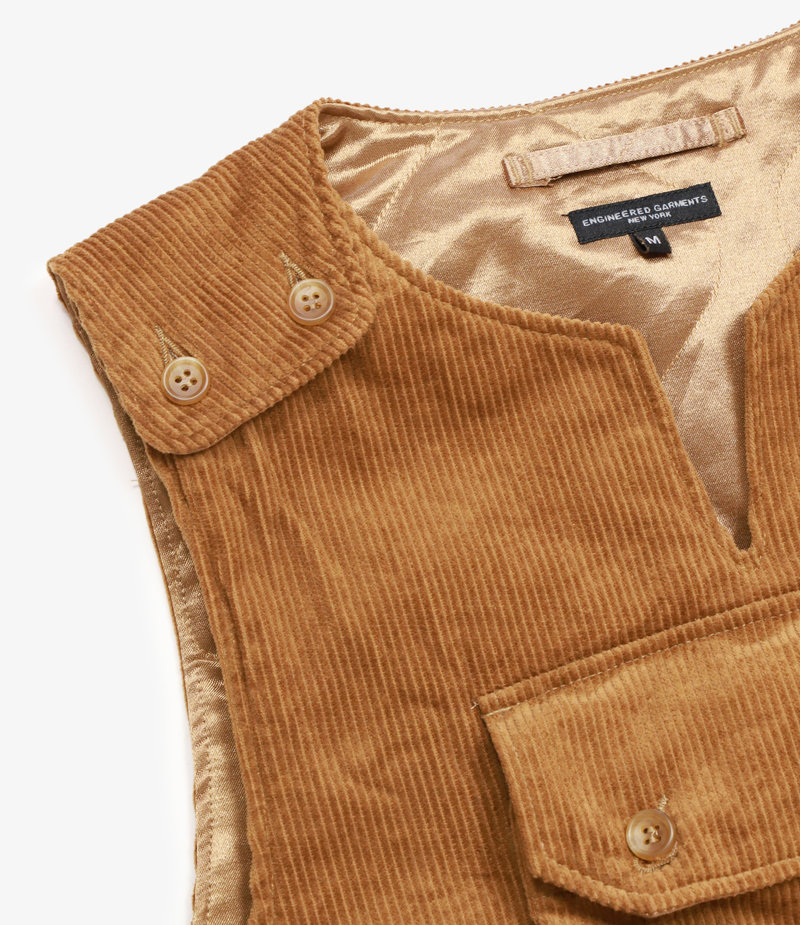 Engineered Garments Cover Vest - Chestnut Cotton 8W Corduroy