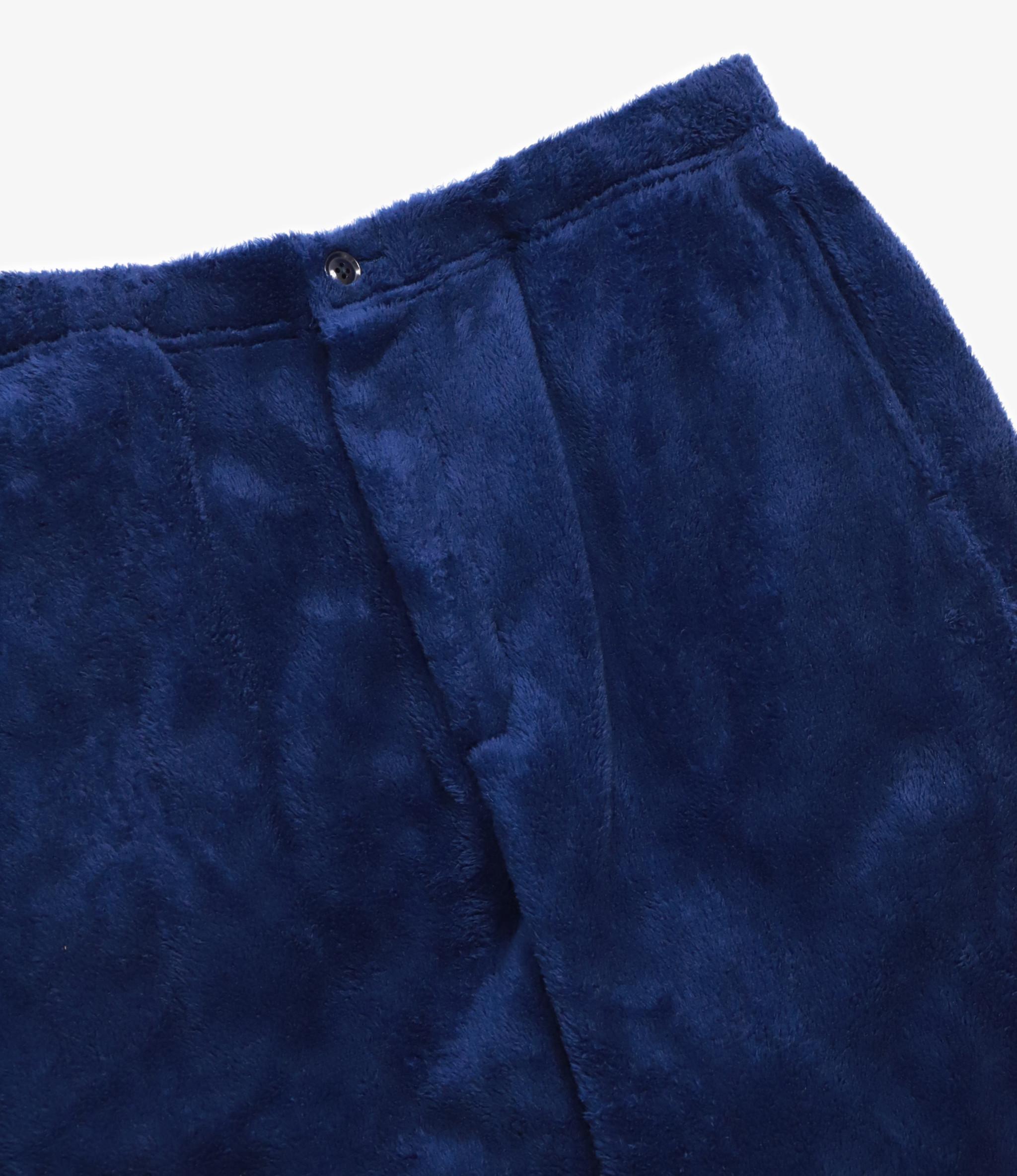 Engineered Garments Jog Pant - Navy Polyester Shaggy Fleece