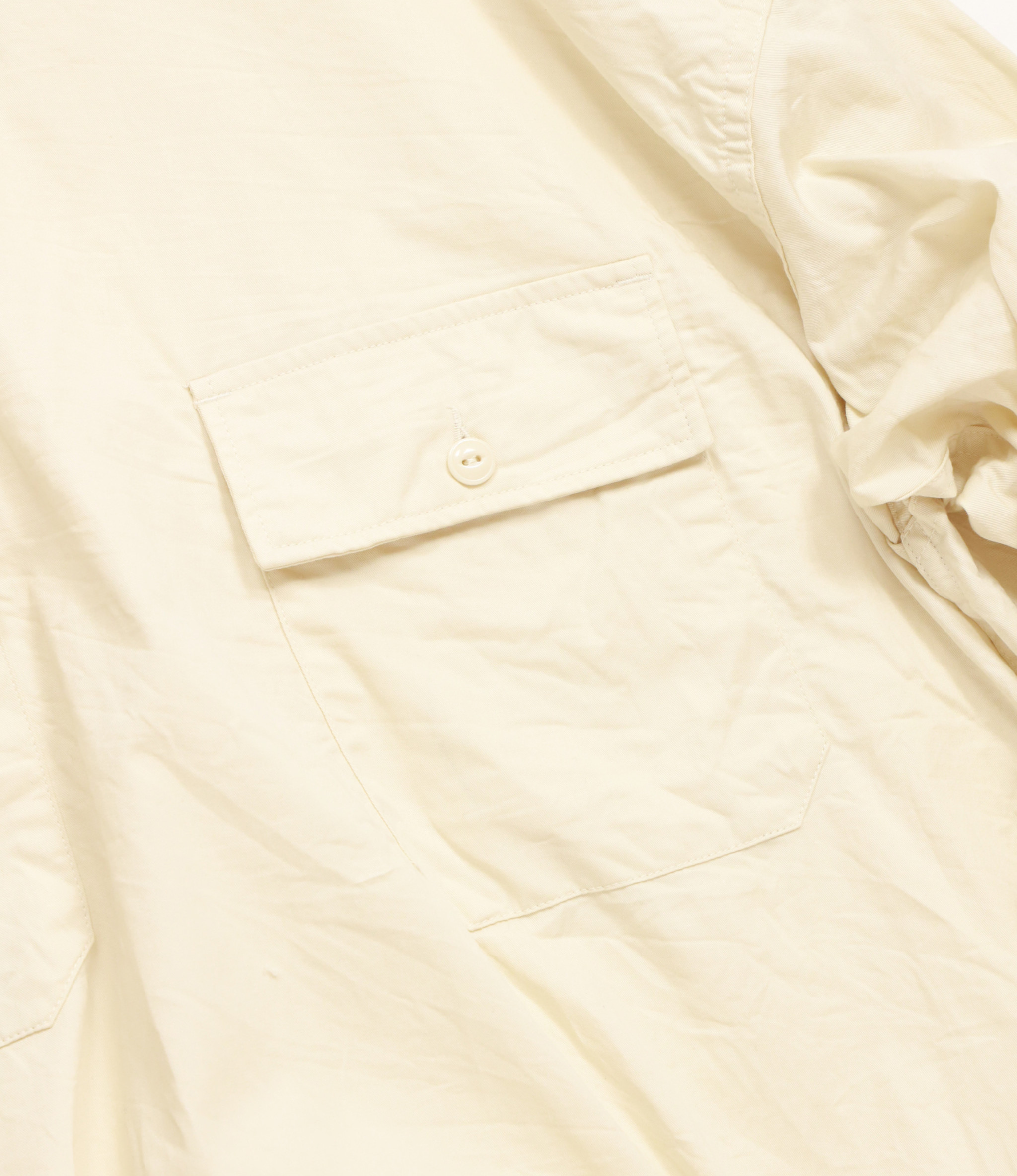 Engineered Garments Cagoule Shirt - Ivory Cotton Fineline Twill