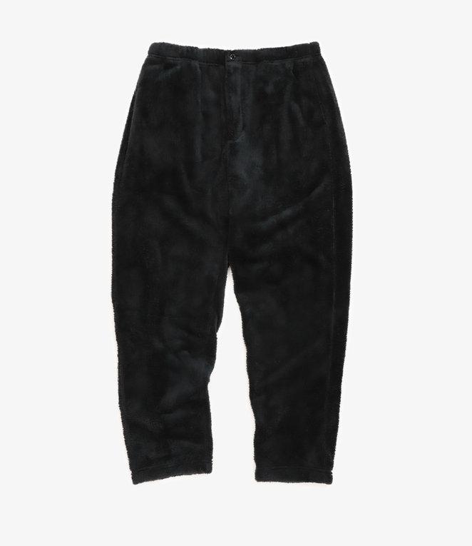 Engineered Garments Jog Pant - Black Polyester Shaggy Fleece
