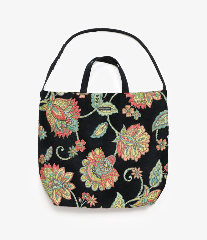 Engineered Garments Carry All Tote - Black Floral Rug Jacquard