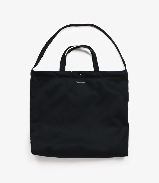 Engineered Garments Carry All Tote - Black Cotton Herringbone