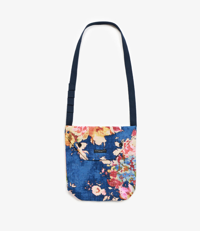 Engineered Garments Shoulder Pouch - Navy Big Floral CL Canvas