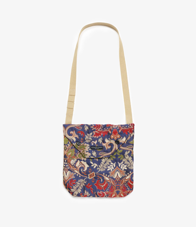 Engineered Garments Shoulder Pouch - Navy/Khaki Big Floral Jacquard