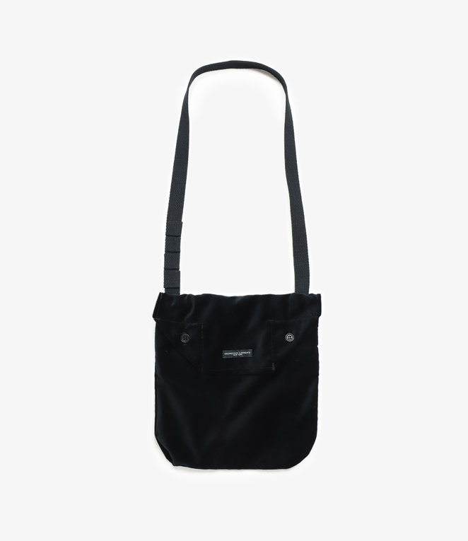 Engineered Garments Shoulder Pouch - Black Cotton Velveteen