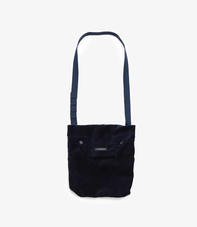 Engineered Garments Shoulder Pouch - Dark Navy Cotton Velveteen