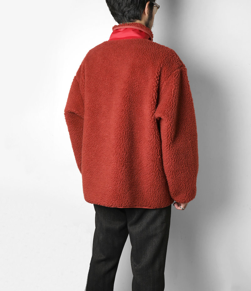 South2 West8 Piping Jacket Synthetic Pile - Rust