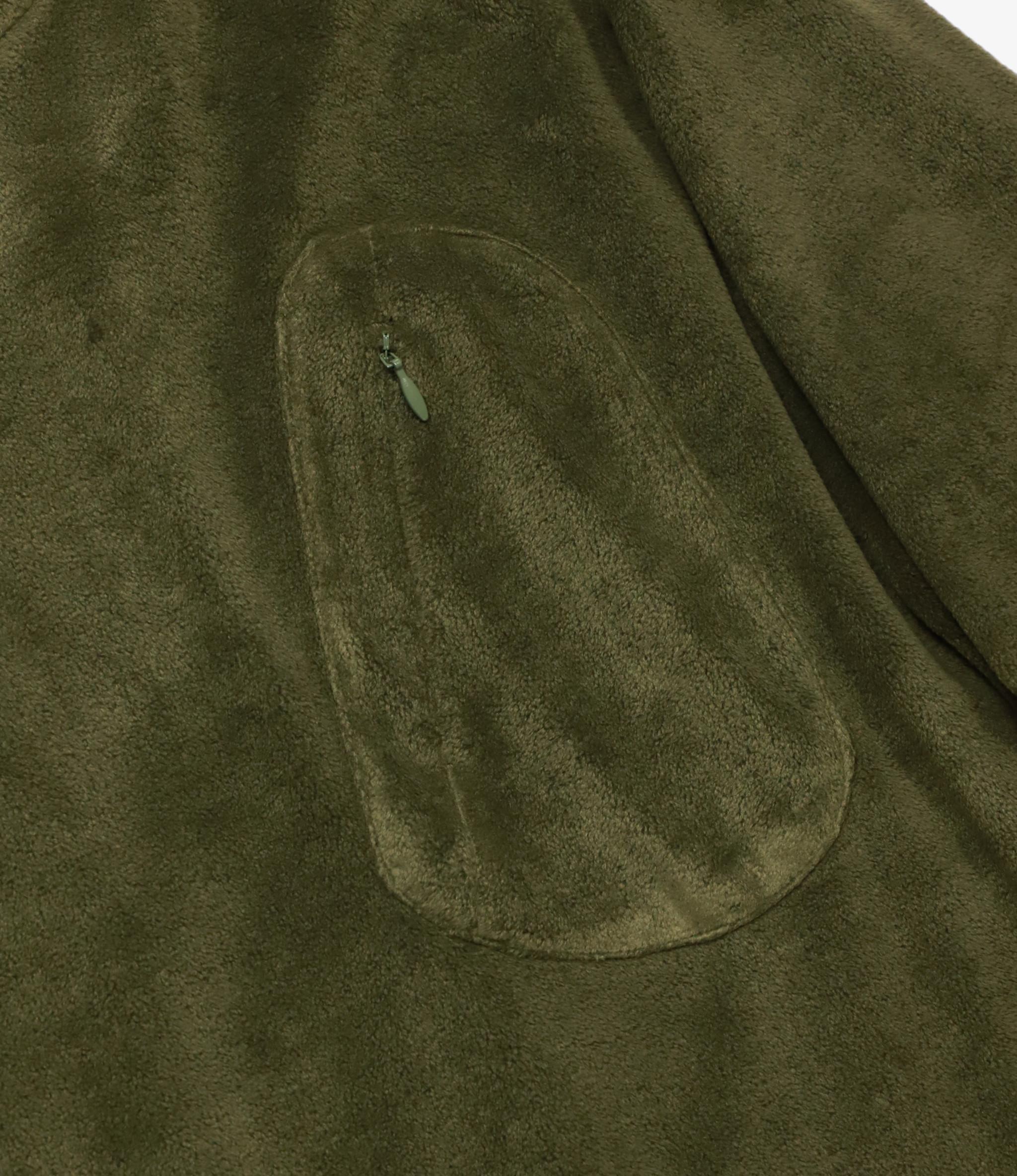 South2 West8 Zip Pocket L/S Tee Poly Fleece - Olive