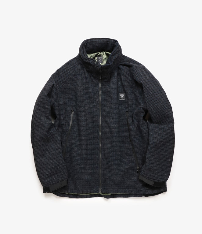 South2 West8 Weather Effect Jacket Poly Gunclub Plaid - Navy