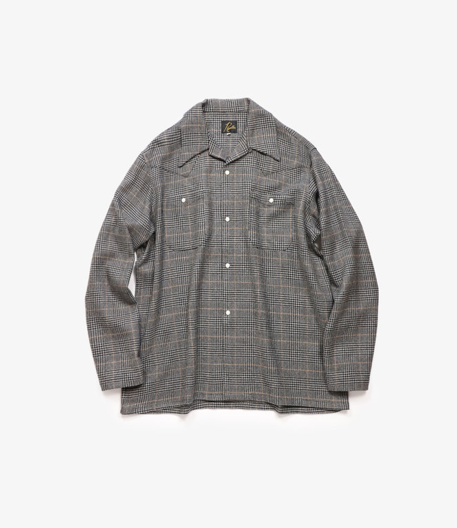 Needles One-Up Cowboy Shirt - Pe/R/W/Pu Glen Plaid - Grey