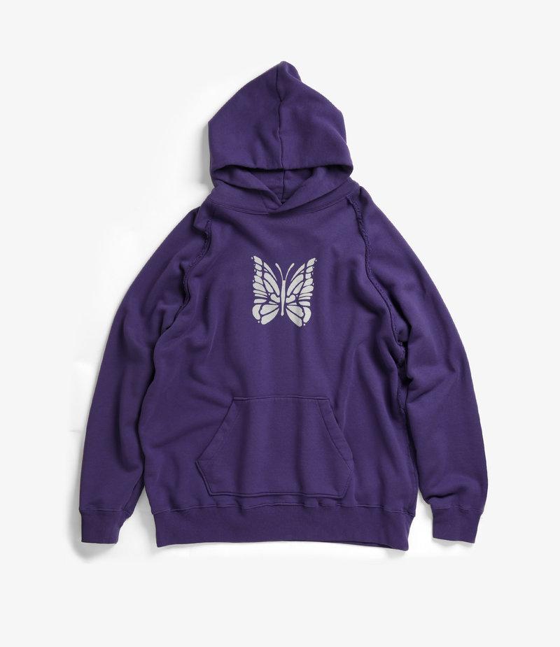 Needles Sweat Hoody - Cotton Jersey / Discharge Print - Purple