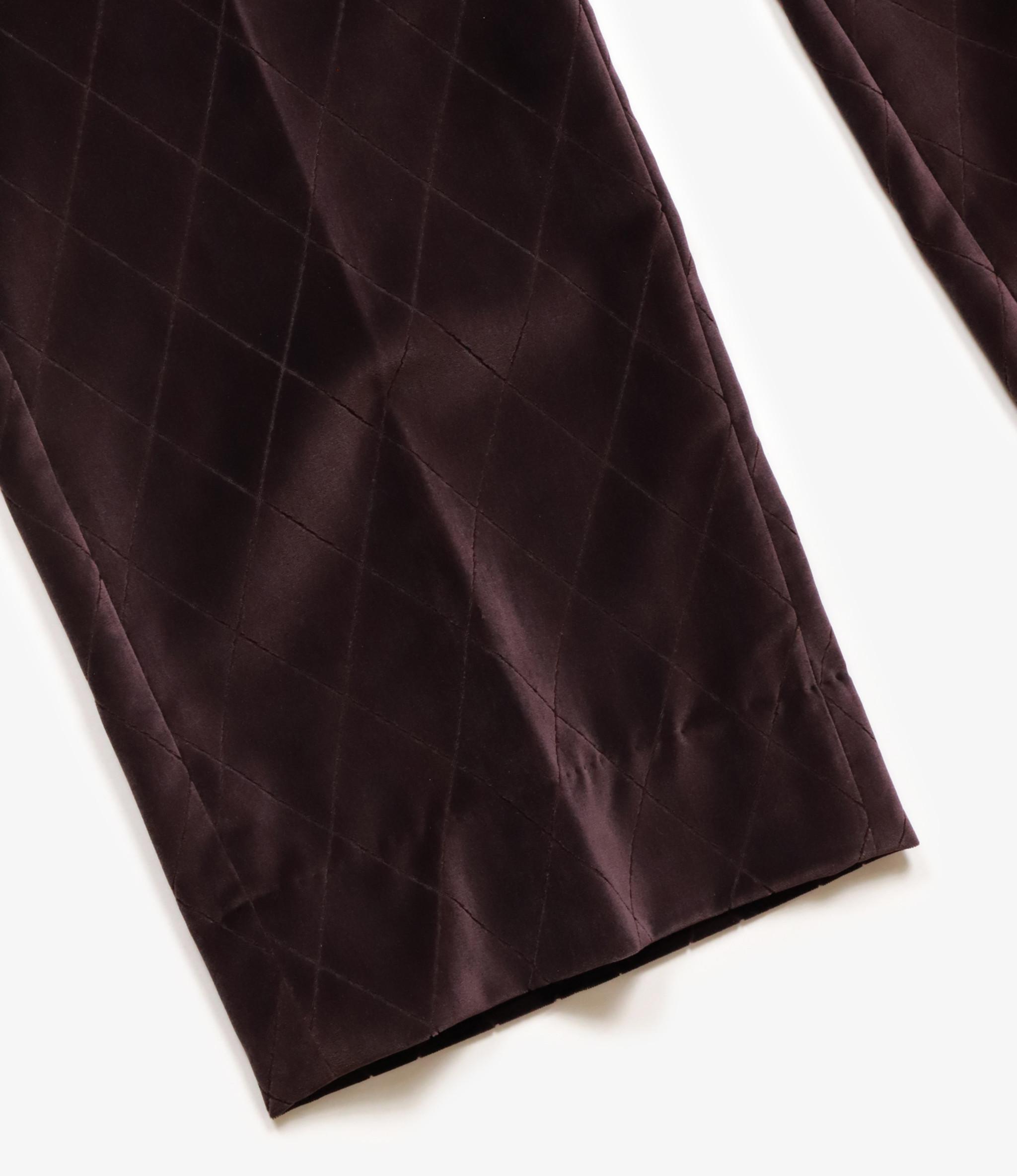 Needles Side Tab Trouser - Pe/C Velvet / Opal Finished - Bordeaux