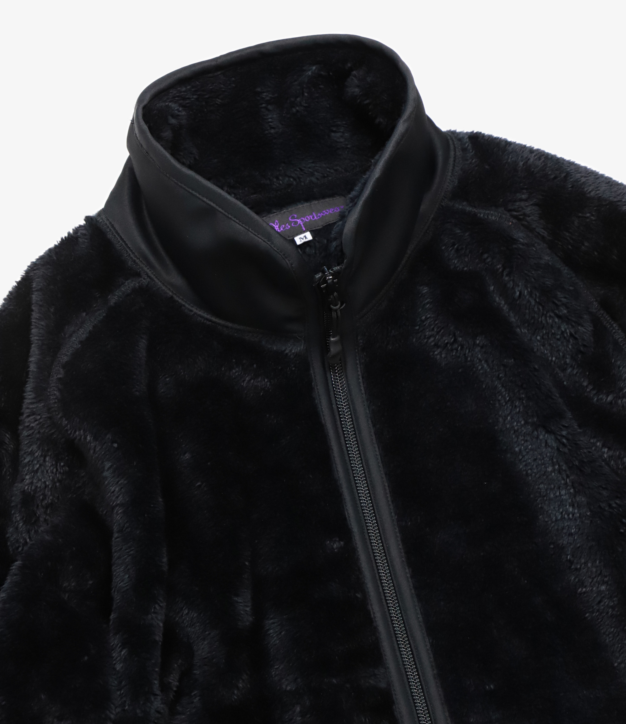 Needles Sportswear - Piping Jacket - Micro Fleece Black