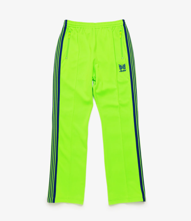 Needles Needles x AWGE: Narrow Track Pant - Poly Smooth - Neon Green