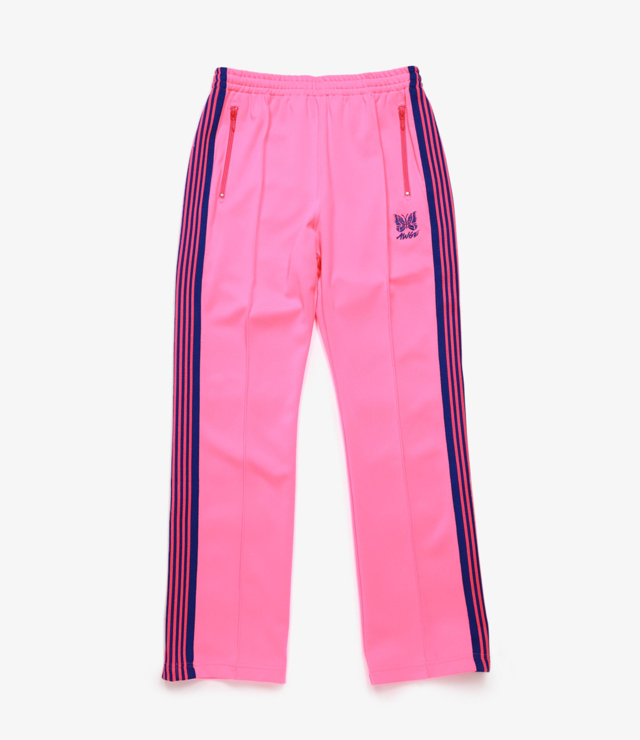 Needles Needles x AWGE: Narrow Track Pant - Poly Smooth - Neon Pink