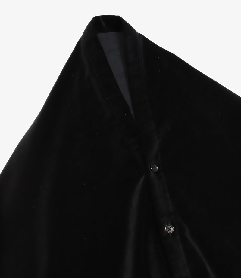 Engineered Garments Button Shawl - Black Cotton Velveteen
