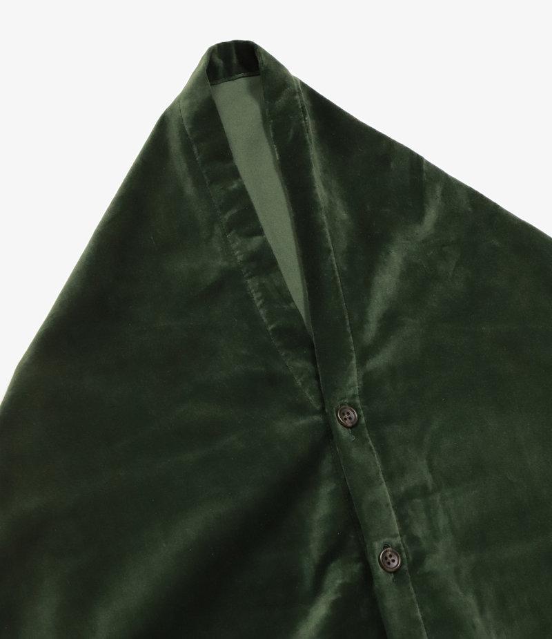 Engineered Garments Button Shawl - Olive Cotton Velveteen
